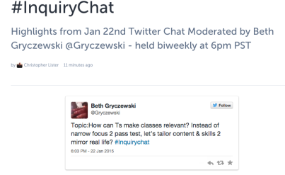 InquiryChat  with tweets  · MrLister · Storify